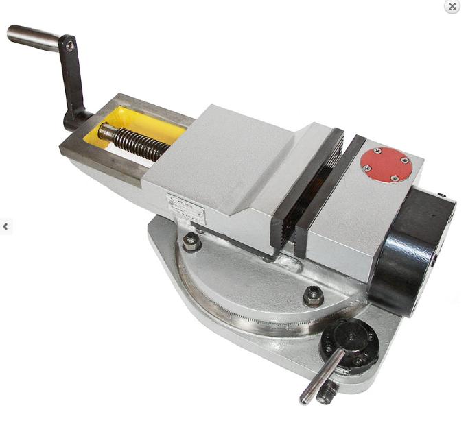 Тиски станочные пневматические  поворотные 160мм 7201-0009-02