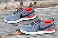 Мужские кросовки Nike реплика сетка сквозная серые легкие и удобные (Код: М1159а) Только 40р!