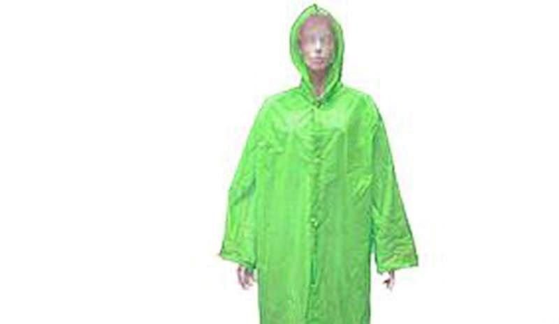 Дождевик. Зеленый дождевой плащ. Защитная одежда от дождя. Дождевик на липучках или на кнопках.
