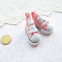Обувь для кукол, кеды мини розовые - 3.5*2 см