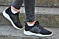 Кросовки женские подростковые черные текстиль практичные, стильные (Код: Б1161а)