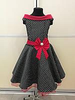 476c738b86b Детское нарядное платье в стиле ретро напрокат. Модель Стиляги (черное)