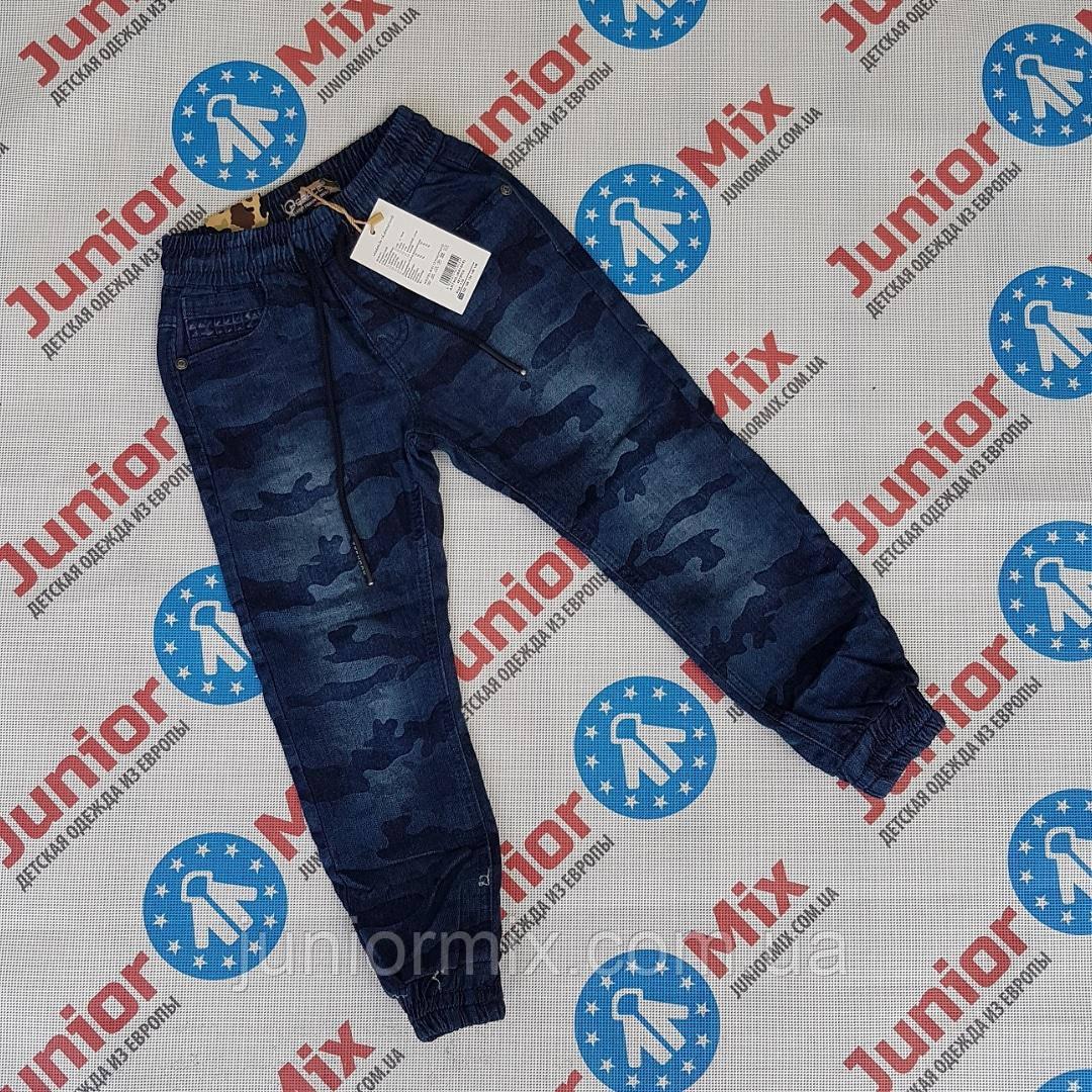 Камуфляжные детские джинсы для мальчиков на манжете оптом GRACE