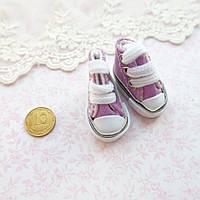 Обувь для кукол, кеды мини фиолетовые - 3.5*2 см