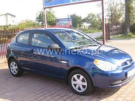 Дефлекторы окон (ветровики) Hyundai Accent 3d 2шт (Heko)