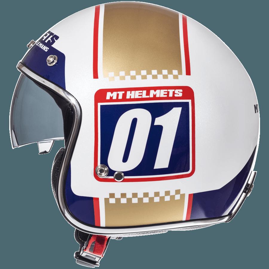 Відкритий шолом MT Le-Mans 2 SV Numberplate