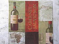 """Салфетка для декупажа """"вино"""", 33х33 см, 5"""