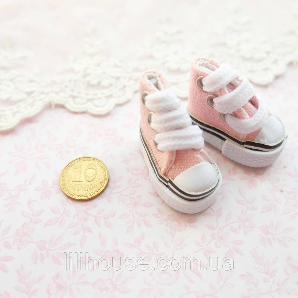 Обувь для кукол Кеды Конверс Мини 3.5*2 см СВЕТЛО-РОЗОВЫЕ