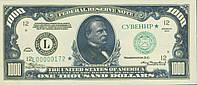 """Деньги сувенирные """"1000 долларов"""". В упак: 80 шт."""
