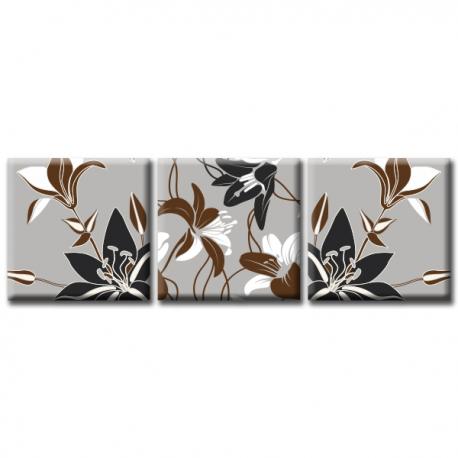 Модульная картина на холсте Dark Lily (триптих). Акция: Бесплатная доставка!, фото 2