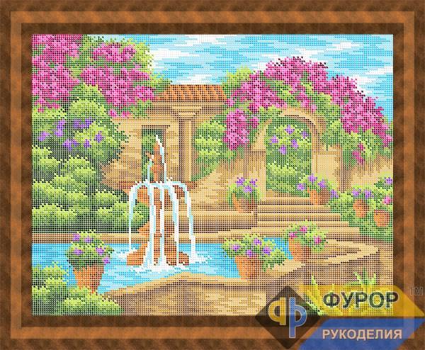Схема для вышивки бисером картины Уютный дворик (ПБп3-074)