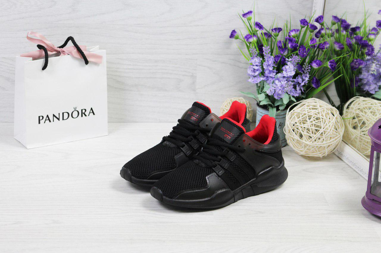 Кроссовки женские Adidas Equipment  ADV/91-17 стильные классные 38 размер (черные), ТОП-реплика
