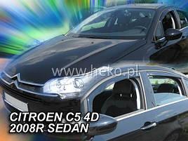 Дефлекторы окон (ветровики) Citroen C5 4D 2008-> Sedan 4шт (Heko)