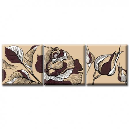 Модульная картина на холсте Rose (триптих). Акция: Бесплатная доставка!, фото 2