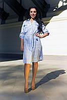 Платье миди. Платье - Рубашка женское. Размеры: норма, батал. Разные цвета., фото 1