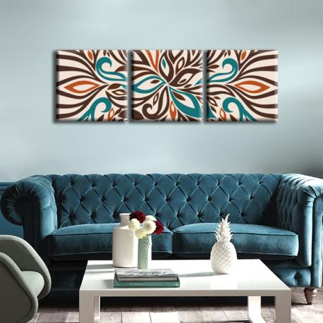 Модульная картина на холсте Abstraction (триптих), фото 2