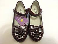 Детские туфли со стразами очень красивые Для девочки