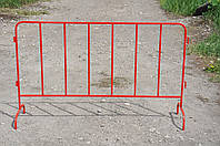Временное ограждение из квадратной трубы, фото 1