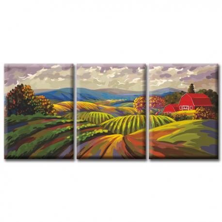 Модульная картина на холсте Field (триптих)
