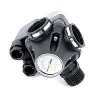 Реле давления со встроенным манометром и 3-х ходовой муфтой Italtechnica PM/5-3W (пр-во Италия)