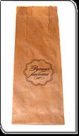 Упаковочный пакет бумажный с надписью Ручная Работа 1 шт / 100 шт
