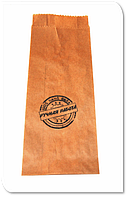 Упаковочный пакет бумажный с надписью Штамп Ручная Работа 1 шт / 100 шт