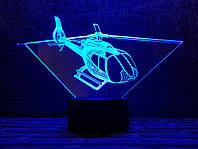 """3D светильник ночник """"Вертолет 4"""" 3DTOYSLAMP, фото 1"""