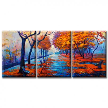 Модульная картина на холсте Autumn Park (триптих). Акция: Бесплатная доставка!