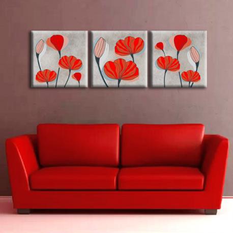 Модульная картина на холсте Opium (триптих). Акция: Бесплатная доставка!