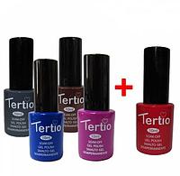 Набор гель-лаков Tertio 4+1 в подарок