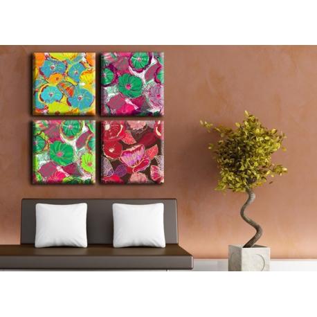 Модульная картина на холсте Flowers (полиптих). Акция: Бесплатная доставка!