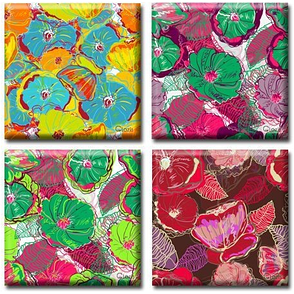 Модульная картина на холсте Flowers (полиптих). Акция: Бесплатная доставка!, фото 2