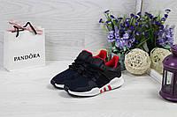 Женские  кроссовки Adidas Equipment  ADV/91-17 удобные стильные для спортзала (синие с белым),  ТОП-реплика, фото 1