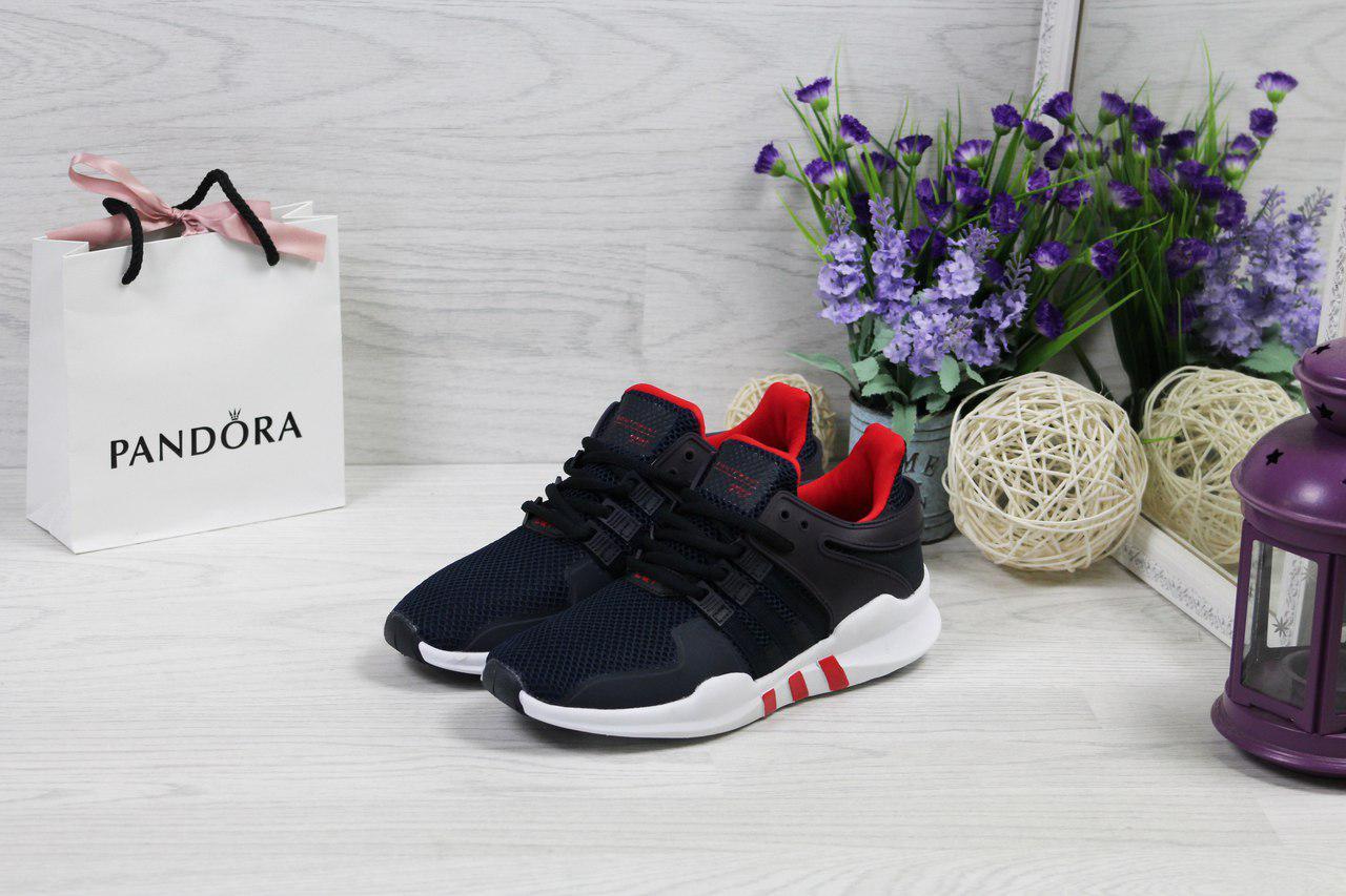 Женские  кроссовки Adidas Equipment  ADV/91-17 удобные стильные для спортзала (синие с белым),  ТОП-реплика