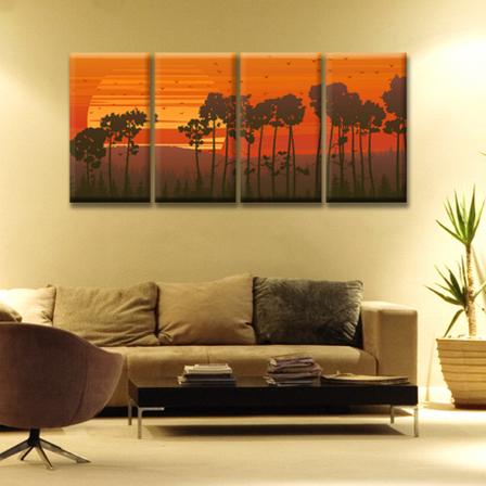 Модульная картина на холсте Sunset (полиптих). Акция: Бесплатная доставка!, фото 2