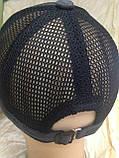 Бейсболка серая хлопковая с вставками из сетки  56-60, фото 5