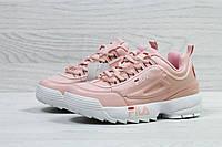 Кросівки жіночі Fila (рожеві), ТОП-репліка, фото 1