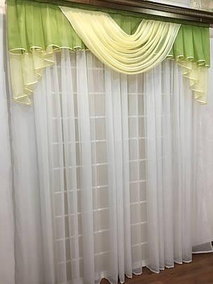 """Готовый ламбрекен """"Аргос""""  2м -зеленый, фото 2"""