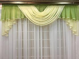 """Готовый ламбрекен """"Аргос""""  2м -зеленый, фото 3"""