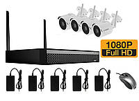 Комплект на 4 беспроводных WiFi камер 2 Мп до 400 метров Longse WIFI2004D1SE200