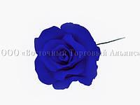 Цветы из мастики - Роза большая синяя №3 - Ø65 мм, фото 1