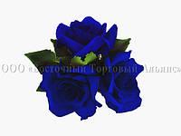 Букет з мастики - Букет троянд СИНІЙ великий - Ø160 мм, фото 1