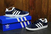 Мужские кроссовки Adidas Gazelle  адидас +запасные шнурки  - Замша, подошва: резина р: 36-45 Индонезия, фото 1