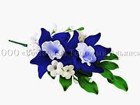 Букет из мастики - Орхидеи СИНИЕ, фото 1