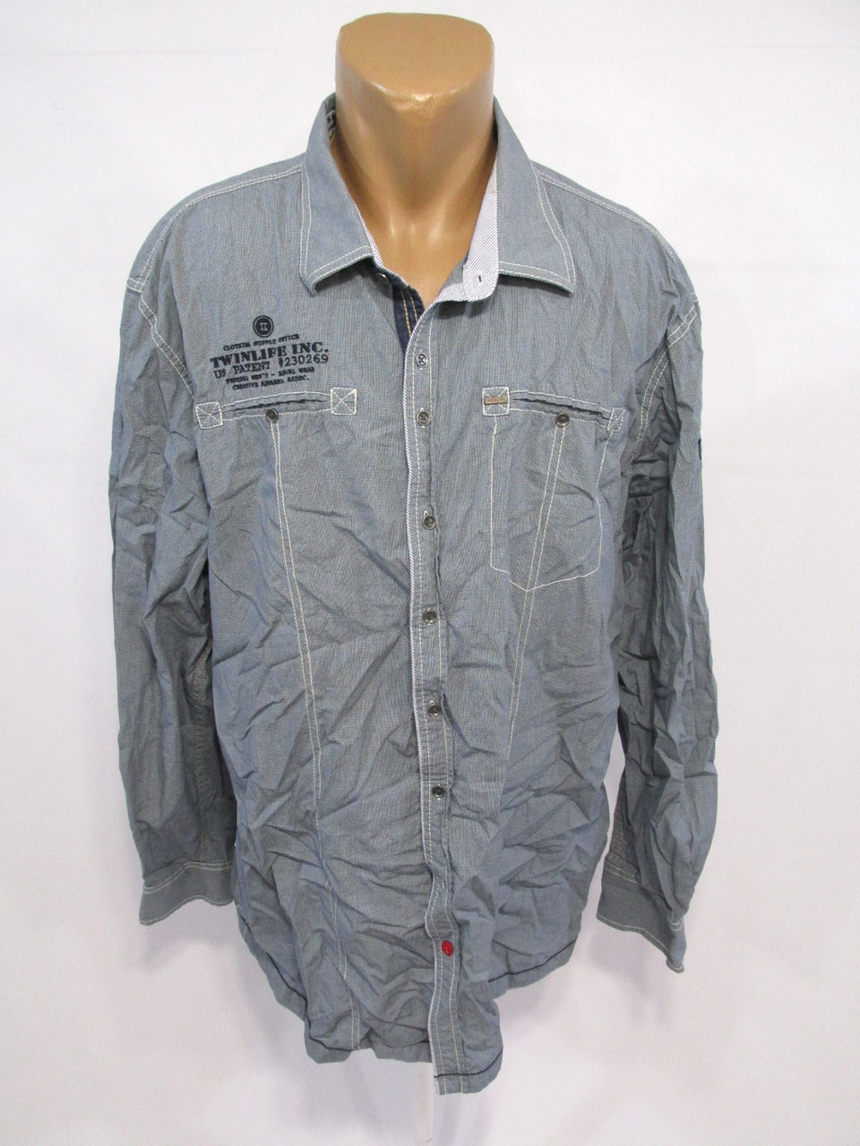 Рубашка Twinlife, 3XL, Cotton, Качество, Как Новая!