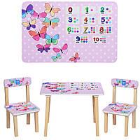 Дитячий столик і стільчики для дівчинки