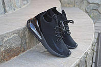 Кроссовки мужские Nike Air Max 270 (черные), ТОП-реплика, фото 1