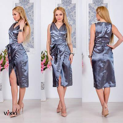 Платье летнее атлас