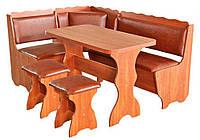 Кухонный уголок «Граф»  с раскладным столоми двумя табуретами