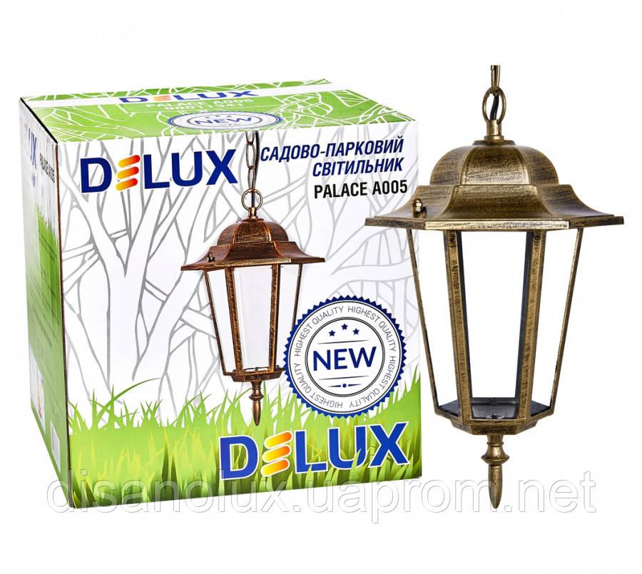 Светильник парковый  PALACE A005 Е27 60вт черный -золото  IP44
